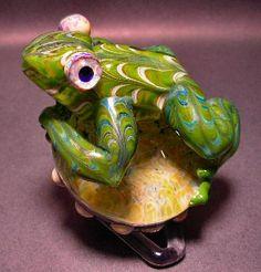 5Fish - Flameworked Borosilicate Glass Frogs