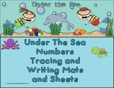 Under the Sea Theme Numbers Tracing and Writing Mats and Sheets:  Print out color set on card stock paper and laminate, this will help your mats last longer.  Teaches the kids to trace, write and recognize letters.   BW Set: these are a great way to send home sheets for them to practice with parents.