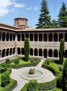Ripoll - Monastery of Santa Maria Interior Claustre  Berguedà  Catalonia