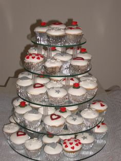 Wedding Fairy Cakes. Red wedding ideas