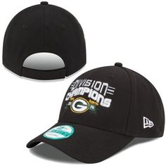 d49a9baf4e0 New Era Green Bay Packers Black 2014 NFC North Division Champions 9FORTY  Adjustable Hat