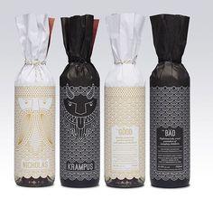 Goods n services Holiday Gift byE mckay  #product #food #packaging #design #packagingdesign #packagingideas #bottle #bottlepackages #foodpackaging #black #white #drink