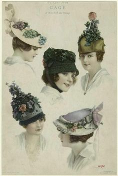 Hats (1916) For those days you want to look like you've been infected with a viral strain of roses....