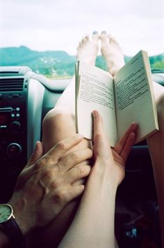 Ah lusting after a road trip with the open road, a good book and love <3