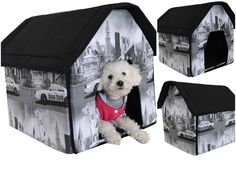 1 Set Superbly Popular Indoor Pet House Soft and Warm Fabric Portable Bed Dog Tent Style New York *** Discover this special product, click the image (This is an amazon affiliate link. I may earn commission from it)