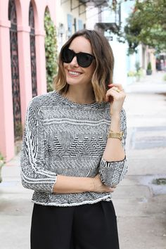 How To Wear Culottes - Louise Roe in Charleston South Carolina - streetstyle Front Roe fashion blog 2