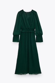 PLEATED MIDI DRESS | ZARA United States