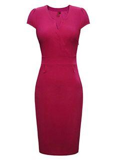 GURAIO Womens Celebrity Lace Splicing Evening Pencil Midi Bodycon Dress