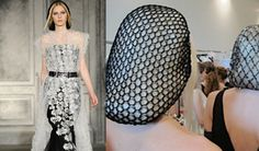 Chanel sent models down the couture runway wearing crochet snoods