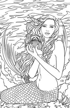 Artist Selina Fenech Fantasy Coloring Pages Colouring Adult Mermaid