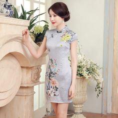 New Arrival Fashion Traditional Chinese Dress Women mini Mandarin Collar Cheongsam Qipao Size S M L XL XXL   L20160401015 #Affiliate
