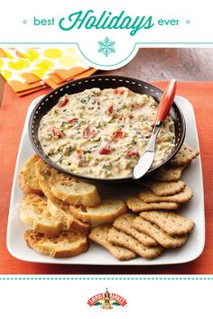 The creamiest holiday dip of the year is best with French bread or crostini.