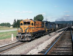 RailPictures.Net Photo: MEC 229 Maine Central GE U25B at Canaseraga, New York by Mike Stellpflug