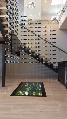 The RING system - contemporary wine storage by Genuwine Cell.- The RING system – contemporary wine storage by Genuwine Cellars The RING system – contemporary wine storage by Genuwine Cellars - Glass Wine Cellar, Home Wine Cellars, Wine Glass, Wine Rack Design, Wine Cellar Design, Wine Rack Wall, Wine Wall, Wine Racks, Flur Design