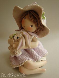 Bambola porcellana fredda - pasta di mais