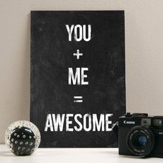 Placa decorativa - You Me Awesome