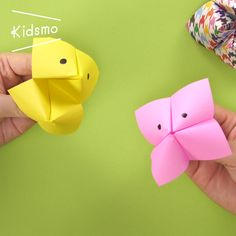 """Easy Origami ① Learn how to make """"Kamifusen""""! / How to make an easy origami """"Paper Balloon"""" - Easy Crafts for All Easy Origami For Kids, Origami Simple, How To Make Origami, Useful Origami, Diy Origami, Origami Tutorial, Origami Paper, Origami Ball, Chat Origami"""