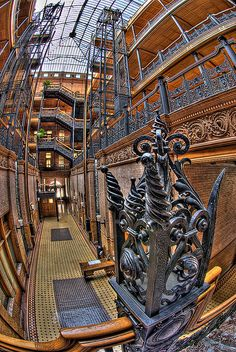 The Bradbury Building #Architecture #Interior #Steampunk