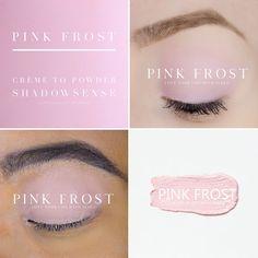 Pink Frost Crème to Powder ShadowSense - Mi Beauty Spot Makeup Collage, Shadow Sense, Waterproof Eyeshadow, Free Shipping Makeup, Powder Pink, Makeup Brush Set, Cool Eyes, Lip Colors, Eye Makeup