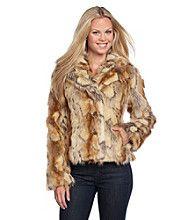 Product: GUESS Short Patchwork Faux Fur Coat
