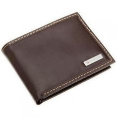 TOMMY HILFIGER MEN/'S LEATHER CREDIT CARD WALLET PASSCASE BILLFOLD BROWN 5675-02