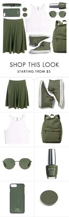 """""""Untitled #2404"""" by countrycousin ❤ liked on Polyvore featuring Boohoo, Keds, H&M, Herschel Supply Co., Ray-Ban, OPI, Chantecaille and HTC"""