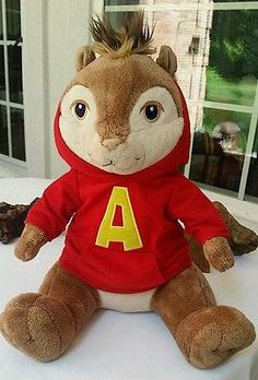 Build A Bear Alvin and the Chipmunks - Alvin Stuffed Plush Red Hoodie 2009