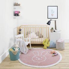 Fresh Round Bunny Rug by Happy Decor Kids designed in Spain MONOQI