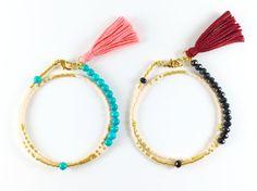 Boho Layering Wrap Bracelet Beaded Tassel by LayeredAndLush
