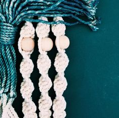 Indigo dyed macrame... easy on the eyes! #macrameallday #currentobsession #wishlist #plantlovers #shoppigment