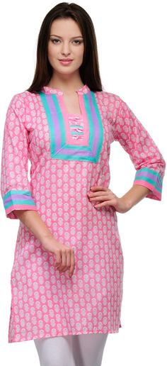 Key Features of Cenizas Casual Printed Women's Kurti 3/4 Sleeve Pink Cenizas Casual Printed Women's Kurti Price: Rs. 501 If you are looking to be a trend setter when you go out to the fanciest of parties on a weekend, Cenizas has just the range of apparel that ensures you would never miss that admirable glance or compliment.