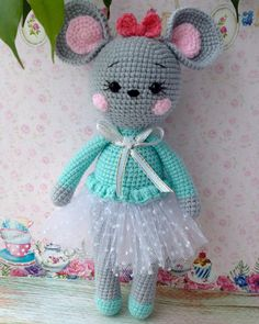 Crochet Mouse, Crochet Geek, Crochet Bunny, Free Crochet, Crochet Dolls Free Patterns, Amigurumi Patterns, Plush Pattern, Stuffed Animal Patterns, Amigurumi Doll