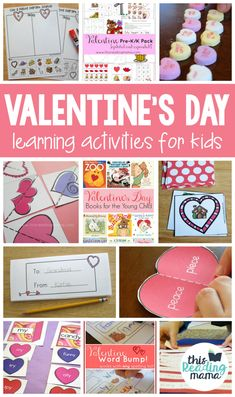 Valentine's Day Learning Activities for Kids (This Reading Mama) Valentines Day Activities, Valentine Day Crafts, Kids Learning Activities, Winter Activities, Writing Activities, Teaching Ideas, Little Learners, Day Book, Holiday Fun