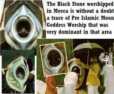 Hajar al-Aswad (The Black Stone). The Black Stone is the eastern cornerstone of the Kaaba. Ancient Goddesses, Greek Gods And Goddesses, Triple Goddess, Moon Goddess, Origin Of Christianity, Islam, Unusual Facts, Mekka, Abraham Hicks Quotes