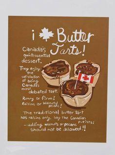 Poster by Wendy Tancock of Saskatchewan Butter Tarts, Raisin, Pecan, Bliss, Desserts, Poster, Tours, Wall, Deserts