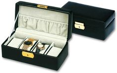 Leather Watch Box, Black Leather Watch, Smooth Leather, Suitcase, Watches, Stuff To Buy, Accessories, Shopping, Ebay