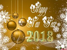 Wishes and Poetry: Welcome to Happy New Year 2018 Picture with Golden Background