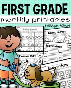 First Grade Math and Literacy Printables - Growing Bundle