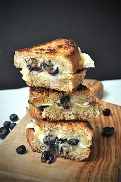 Blueberry and Brie Grilled Cheese — Now THAT's a grilled cheese sandwich I would eat! Intriguing combination!