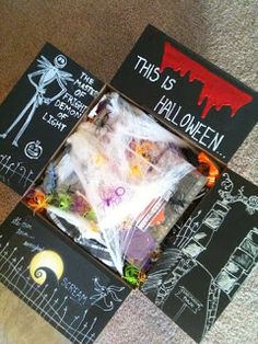 Halloween care package idea – Time to get them in the mail! Halloween care package idea – Time to get them in the mail! Missionary Care Packages, Deployment Care Packages, College Care Packages, Missionary Mom, College Gifts, Halloween Care Packages, Halloween Gift Baskets, Holiday Baskets, Cumpleaños Diy