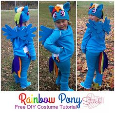 DIY Rainbow Pony Cos