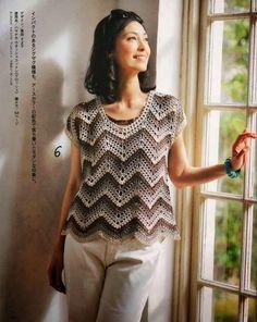 Marisabel crochet: zig zag sweater