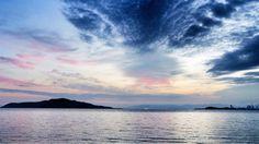 21 Sept. 5:54 薄明(dawn)の博多湾です。 ( Morning Now at Hakata bay in Japan )