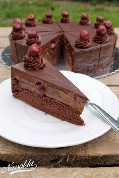 Dobos Torte Recipe, Torte Cake, Paleo Dessert, Fun Desserts, Dessert Recipes, Baking Recipes, Cookie Recipes, Hungarian Cake, Champagne Cake