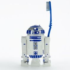Transform his bathroom into an intergalactic wonderland with the help of this Star Wars toothbrush holder. In white. Star Wars Droides, Star Wars Baby, Star Wars Kids, Decoration Star Wars, Star Wars Decor, Star Wars Zimmer, Star Wars Bathroom, Baby Boy Accessories, Star Wars Merchandise