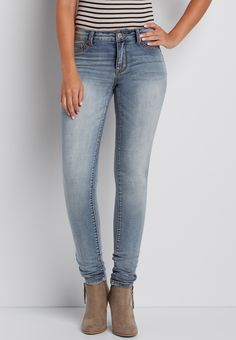 DenimFlex™ light wash high rise jegging (original price, $34.00) available at #Maurices