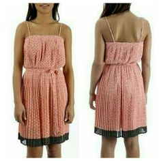 """Paul & Joe Sister Pleated Strappy Crepe Dress 40 M Brand new with tag.however most of tag is cut away..only small portion remains ..retail $275 **GIROLE ** PLEATED CREPE DRESS WITH FLOWER MOTIF THROUGHOUT, side zipper. Waist elastic for a comfy/forgiving fjt. Tagged FR 40 ( according to size conversion.US M) 100% polyester crepe material approx measurements waist 11.5"""" relaxed will stretch alot, ,length approx 37"""" or so as adjustable straps **PRICE NEGOTIABLE PLS SUBMIT OFFER THRU…"""