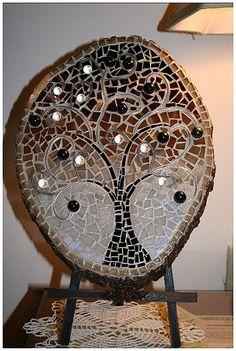 Tree of Life Mosaic Gift Idea on Craftster.org Chanukah / Hanukkah