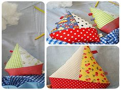 sew and the city: Ship Ahoi. Use fabric scraps (and stuffing scraps) to make a stuffed toy boat taggie. This is brilliant. Nice relatively quick gift for someone, and a good way to practice sewing.