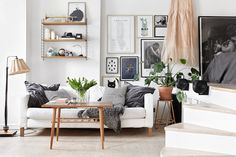 my scandinavian home: Stockholm space with touches of black and gold